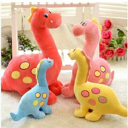 2015 new Hot Sale Anime Baby Toys 30CM Dinosaur colorful Soft Stuffed Plush Toy Gift Doll For Children