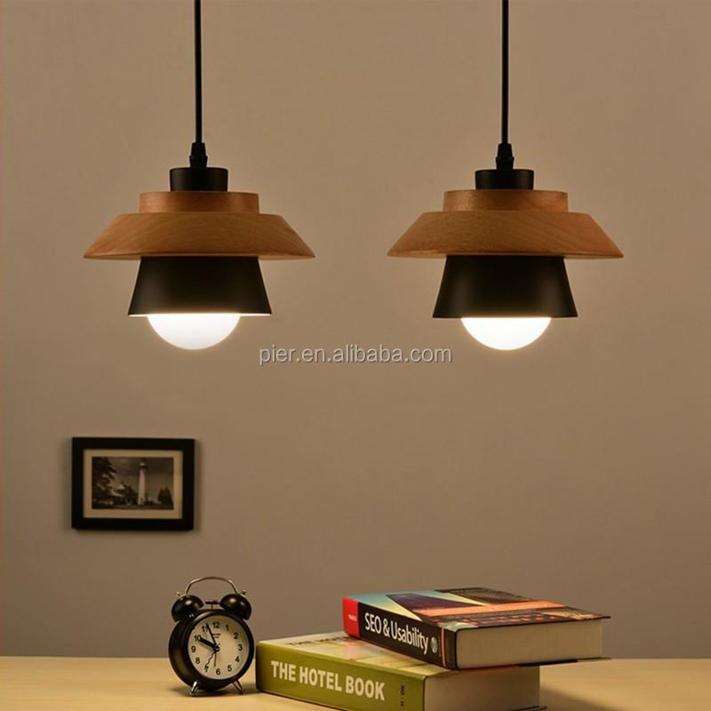 Moderne Decoratieve Kroonluchter Opknoping Lampen,E27 Wit Houten ...