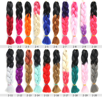 Hot Sale crochet braid Hair Products Synthetic Ombre braid Color Jumbo Braiding Hair Extension