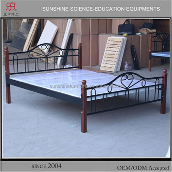 Latest Metal Bed Designs Powder Coated Steel Bed King Size Bed