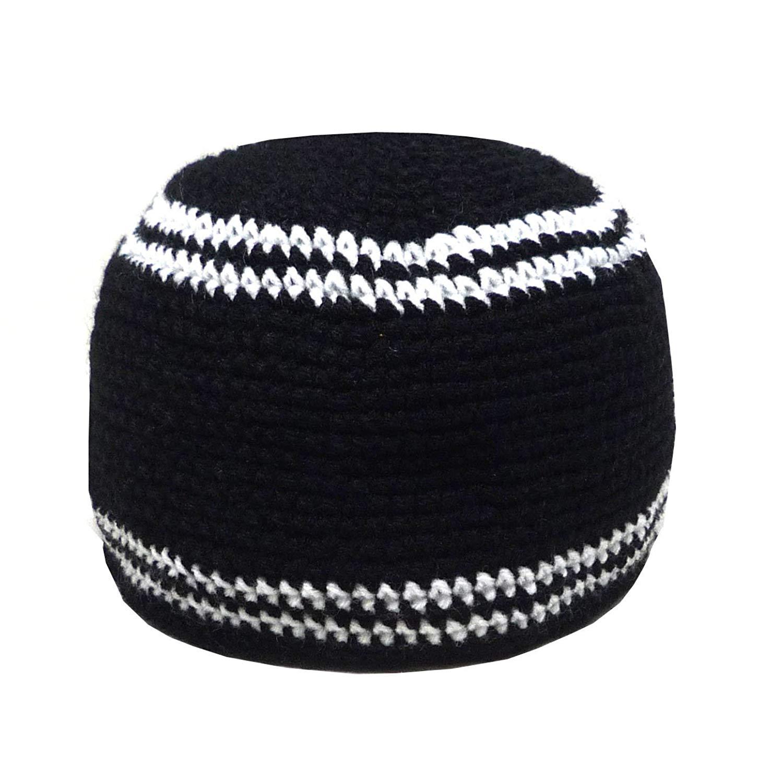 aed3745c909 Get Quotations · Al-Ameen AMN001 Muslim Crochet Kufi Hat Taqiyah Takke  Skull Cap Islam Headwear