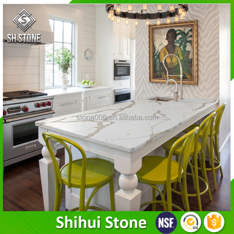 custom size white quartz stone top dining tables for sale - buy
