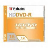 Verbatim HD DVD-R 15GB 1X Branded 1pk Jewel Case (Discontinued by Manufacturer)
