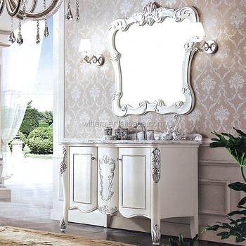 Canton Fair Special Models Luxury Venetian Vintage Bathroom Vanity Cabinet With Mirror