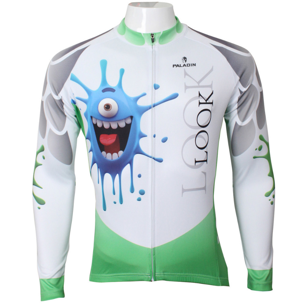 Free shipping 2015 Spring and autumn season long sleeved men riding clothes 3D small monster patternSQ-398
