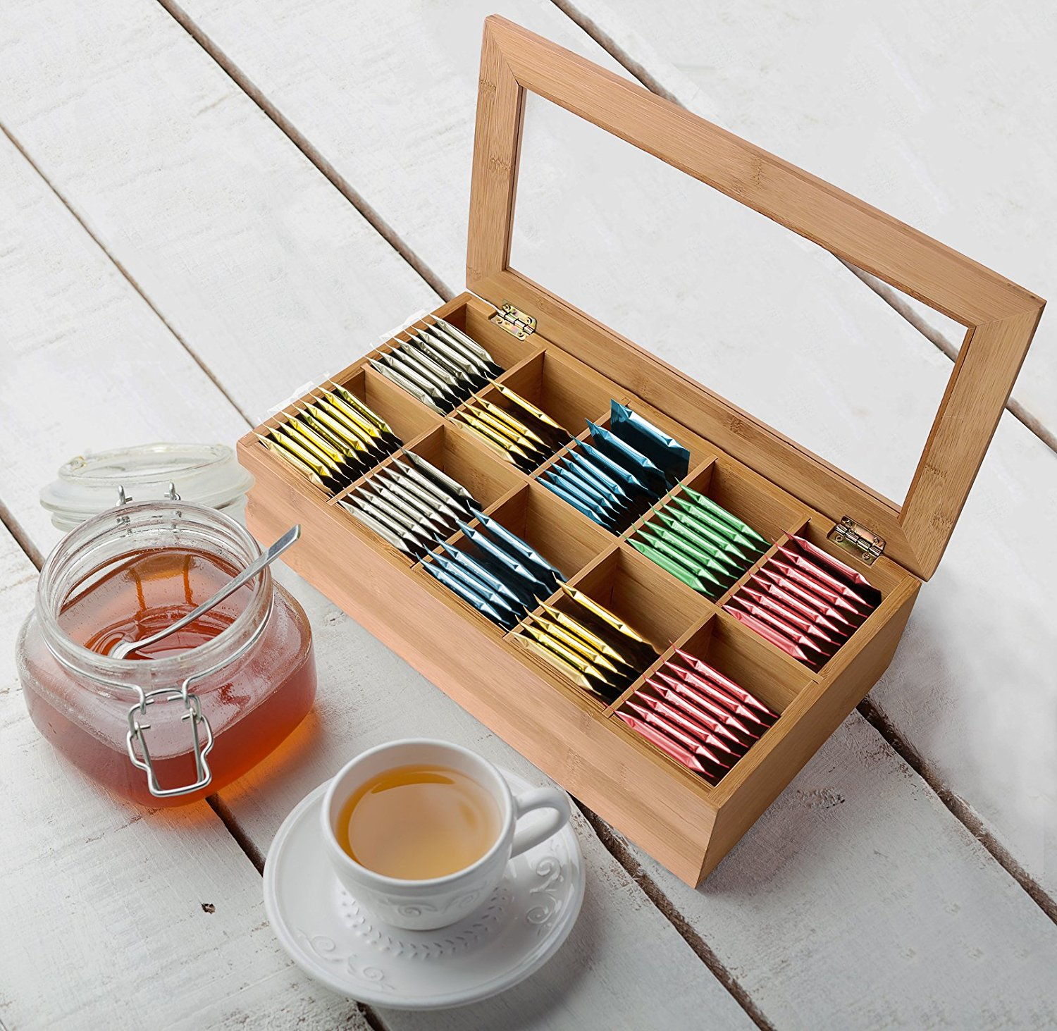 Hot Sell 10 Component Tea Packaging Bamboo Box For High Quality 5
