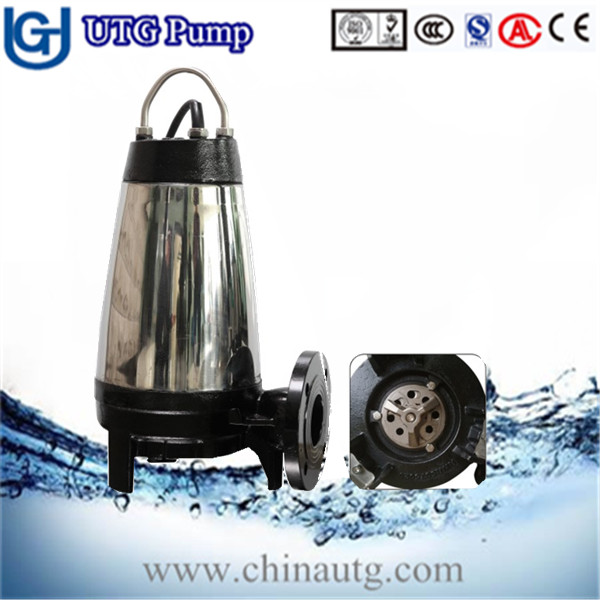 WQZ series Non-clog Submersible sewage centrifugal pumps price with cutting blade