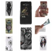 For Samsung Galaxy Grand Prime G530 G530H G5308W Case Owl tiger Lion sexy lady Painting Ultra thin TPU IMD Silicone Phone Covers