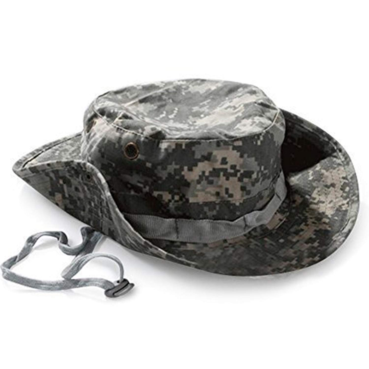 a7543a5d211 Get Quotations · Yonger Camouflage Bucket Hat Military Fishing Camping Cap  Hunting Jungle Wide Brim Bucket Outdoor Sun-