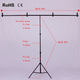 2m*2m/ 6.5ft*6.5ft Professinal Photography Photo Backdrops Background Support System Stands