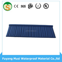 Factory stone coated residential roofing material/building material metal roof tile