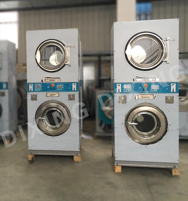 Double Stack Washer And Dryer Combo Industrial Washing