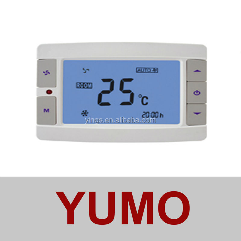 AC202 high quality Large Screen Programmable digital LCD thermostat