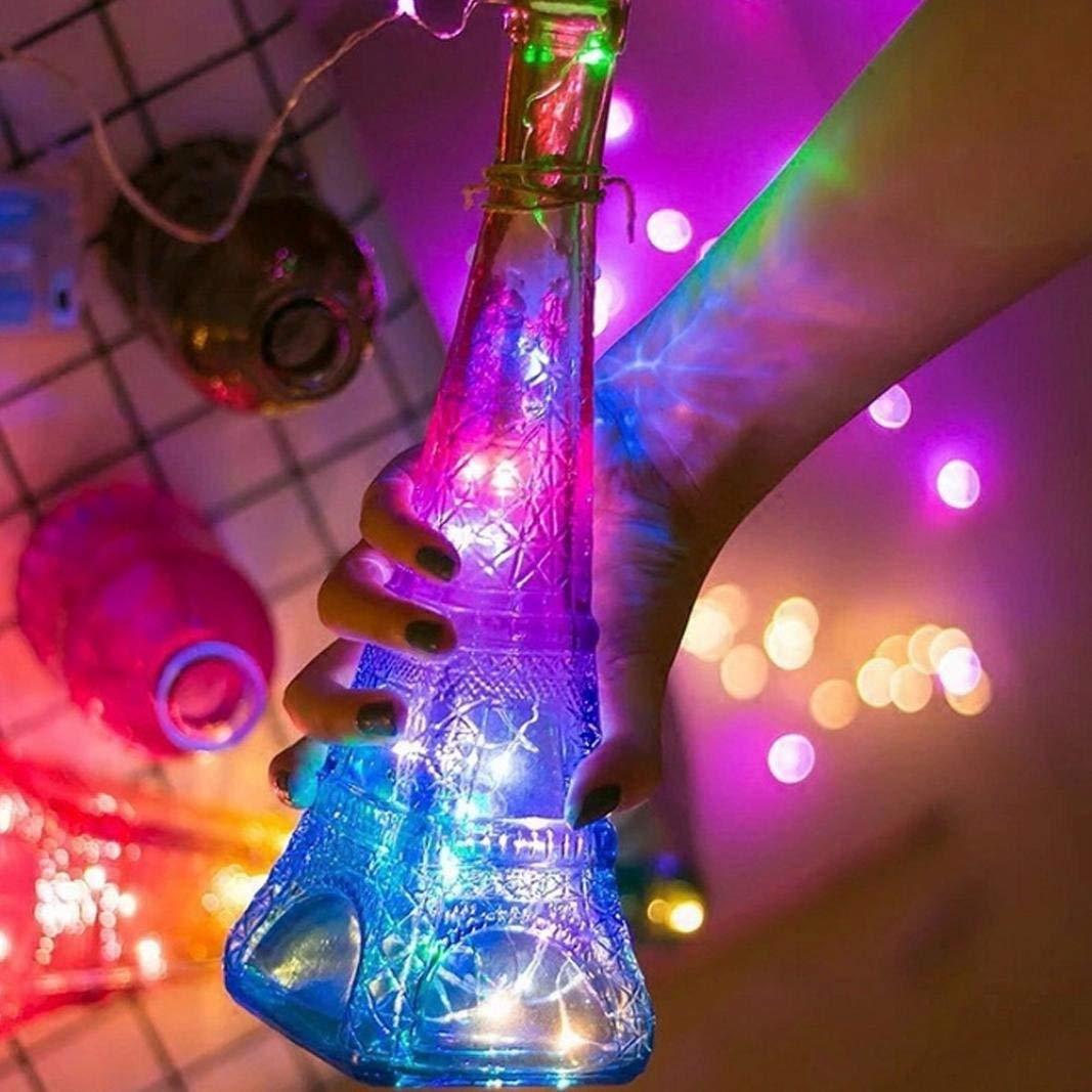 RNTop Eiffel Tower Copper Bottle Night Lamp Star Lantern Lights Flashing Lights Copper Waterproof Decorative Starry Lights for Bedroom, Patio, Parties