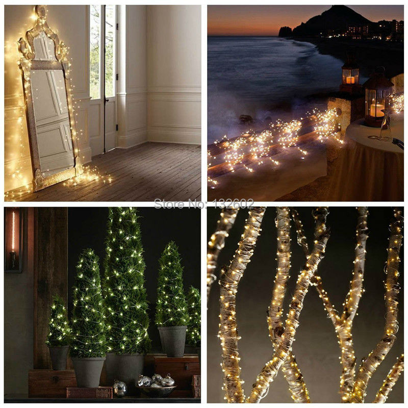 Holiday Lighting 33ft 10m 100led Copper Wire String Lights Fairy Lights For Outdoor Christmas Wedding Party Decor 12v Dc Power Adapter Included We Take Customers As Our Gods