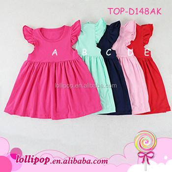 70e85e418a57 Children Flutter Pearl Dress Cute Kids Beautiful Girl Sweet Cotton ...