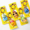 5 pcs set Tsum Tsum mini lot keychains Minnie and Mickey mouse Stitch Mr Q figures