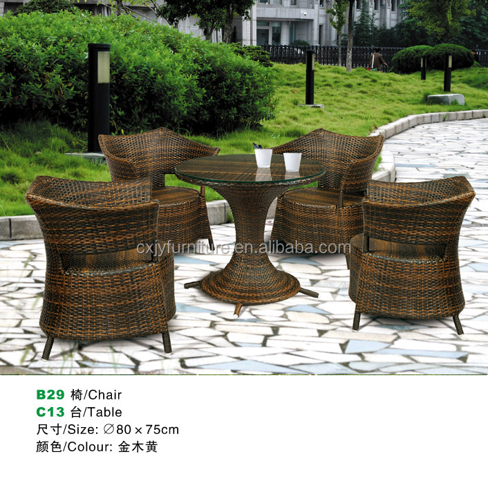 B29-C13 pool side cheap outdoor plastic chairs rattan table