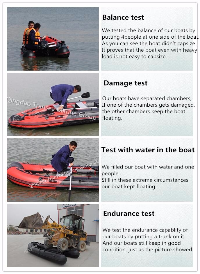 CE approval 2.3m zodiac inflatable rowing boat for fishing