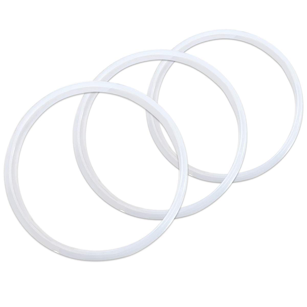 WERSEA 3 Pack Instant Pot 6 Quart Crock Pot Express Multi-Cooker Sealing Ring Gaskets- Clear Color