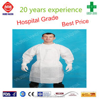 Disposable long sleeve lab coat