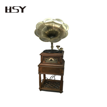 Luxurious Gramophone Player with BT/AUX-in
