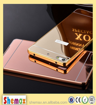 shemax] Luxury Metal Aluminum Frame Bumper Mirror Back Cover For ...