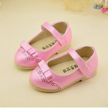 spring girls retro Princess shoes children Bow PU Leather Shoes baby toddler shoes for 1 7