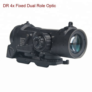 GSP0304--Tactical Rifle Scope Quick Detachable 4X Fixed Dual Role Sight For Hunting