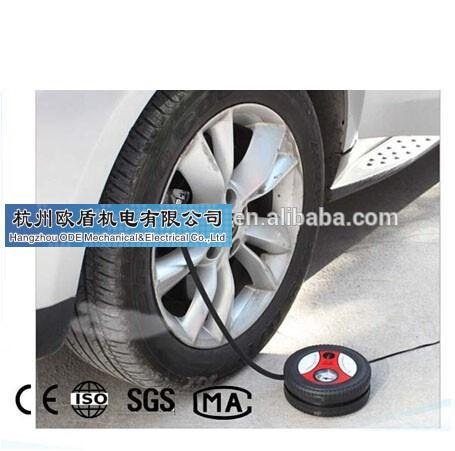 Popular Tire shape car air compressor 12V/mini tire inflator