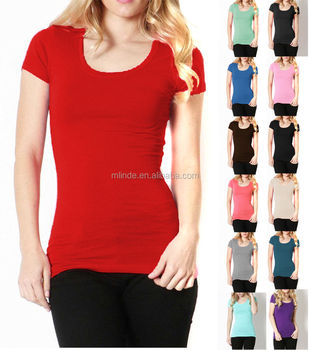 red t shirt girl