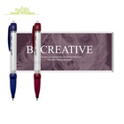 Custom Logo Promotional Advertising Pull out Message Pen Pull out Paper Flag Banner Stylus Pen