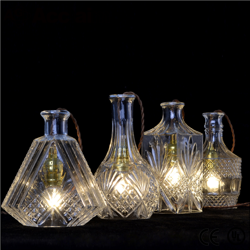 Vintga antique indian hanging glass pendant light lamp chandelier bottles hanging lighting for sleeping room