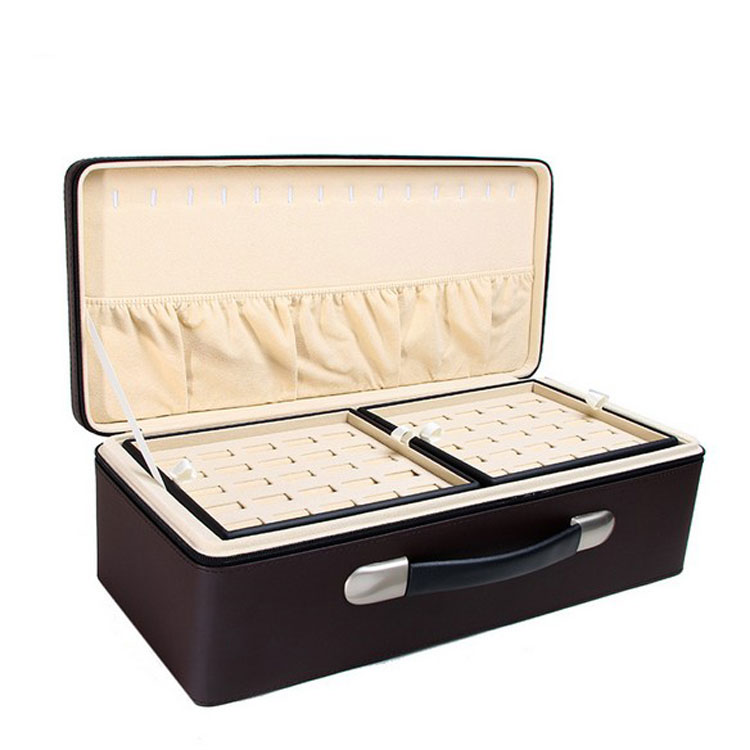Top Quality Portable Commercial Custom Arabic Jewelry Box Leather Boxes Wholesale Universal Jewelry Box