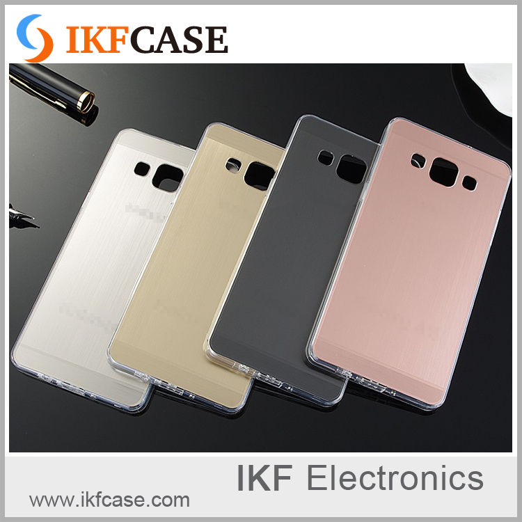 manufacturer wholesale Original Plating Brushed Metal TPU Soft Luxury Slim custom cell phone case For Samsung Galax
