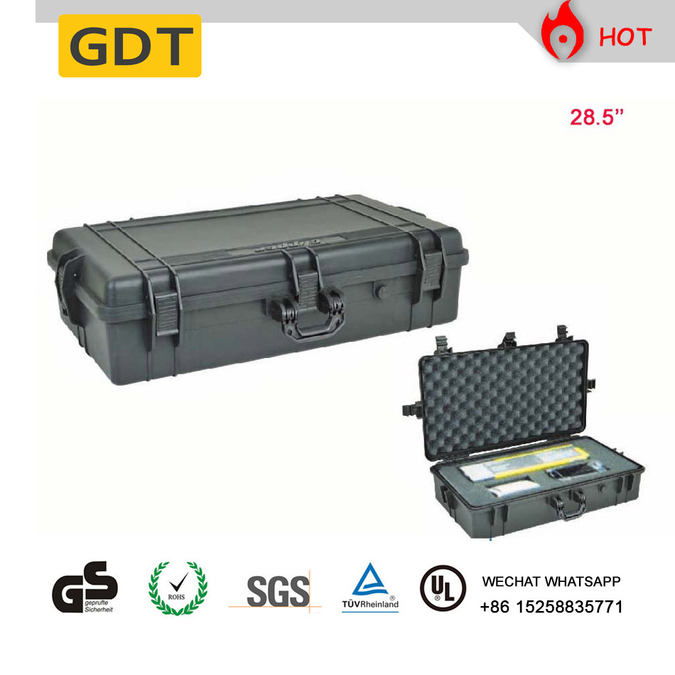 PP plastic case safety handle toolbox with pre-cutting foam