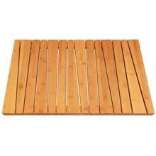 Bamboo Shower Floor and Bath Mat - Skid Resistant - Heavy Duty Solid Design