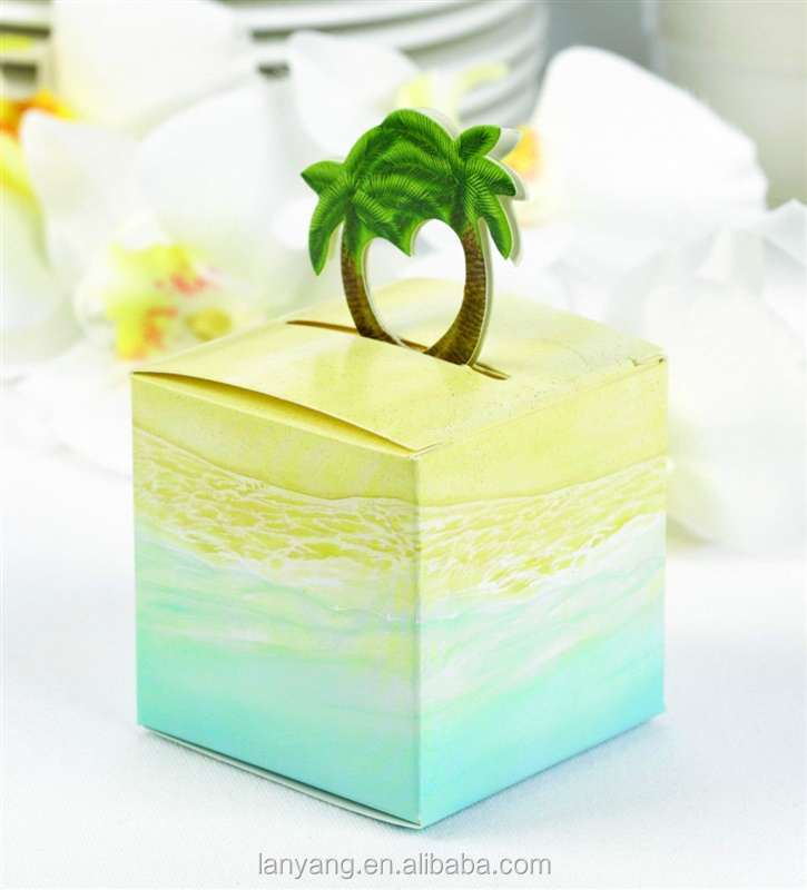 Palm Tree Pop Up Bo Tropical Beach Party Wedding Favor Cb 178 Decorate Gift Box Paper