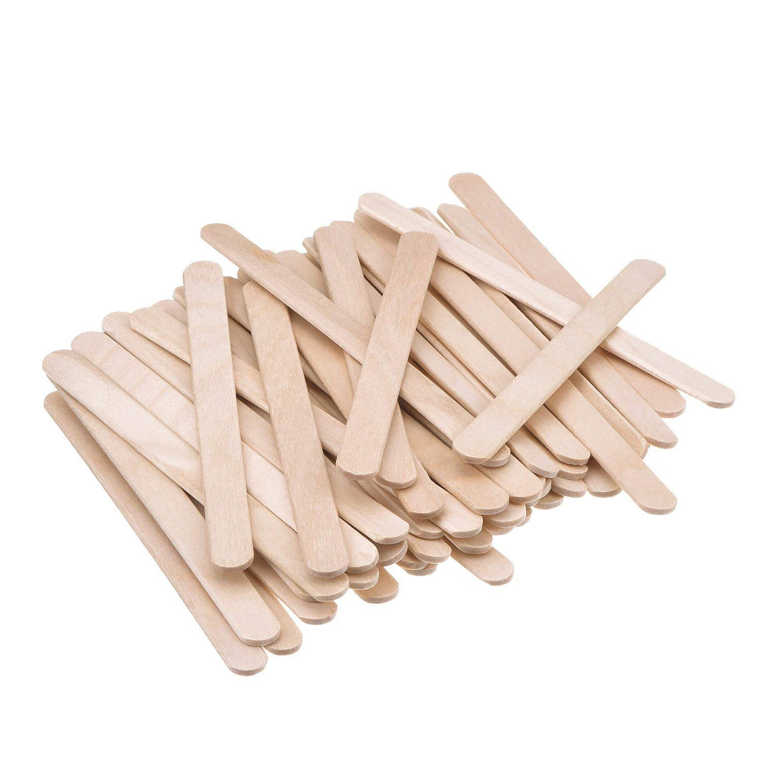 Natural Wood Popsicle Sticks,Wooden Ice Cream Sticks Treat Sticks Freezer Pop Sticks,Natural Wood Craft Sticks,Great for DIY Crafts Homemade Treats Dessert Making KINGLAKE 200 Pcs 4.5 Inch