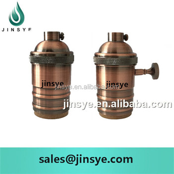 E26 E27 Edison Vintage Brass Lamp Light Base Socket Lamp Holder ...