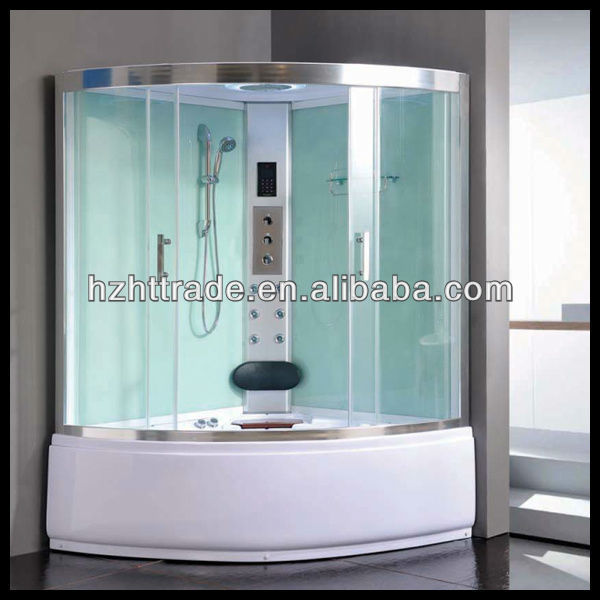 2 person Complete computer controled corner sliding bathroom steam shower room