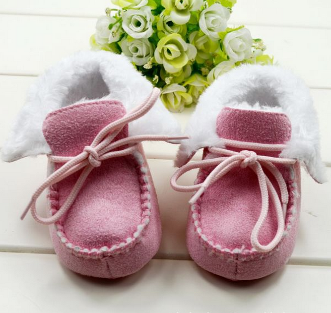 Wholesale Kid Boots Soft Fur Sheepskin Baby boots For Winter