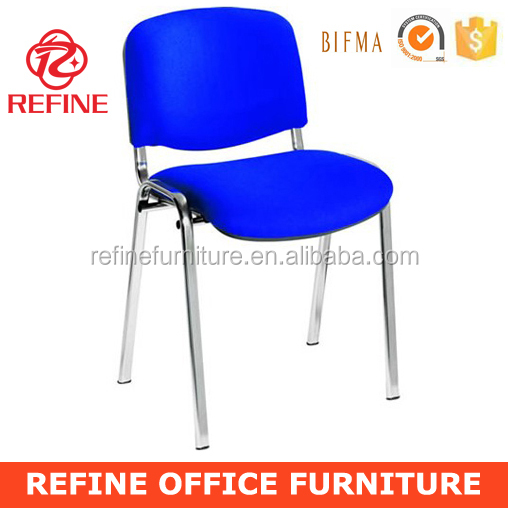 chrome frame fabric stackable office visitor chair without armrest RF-T004E