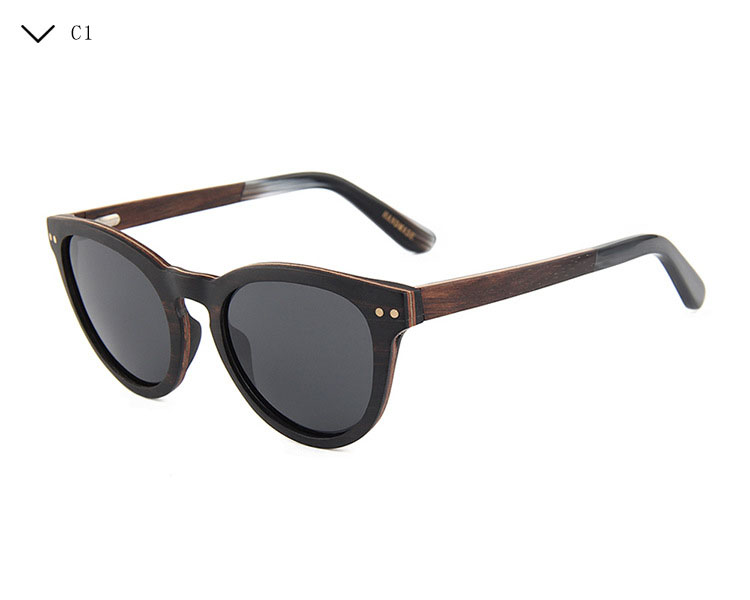 New arrival 2018 square wooden polarized frames men