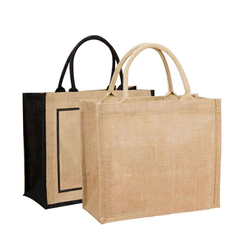 Natural burlap <strong>eco</strong> friendly tote bags reusable jute shopping bag