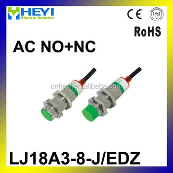 M18 4 Wire Ac No+nc 8mm Distance Measuring Inductive Proximity ...