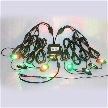 New Rgb Lighting With Eight Lights 8 Pods Phone Remote Control Low Voltage Rock