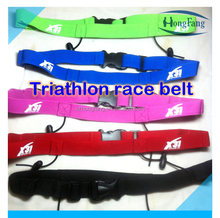Different colors custom logo triathlon race belt