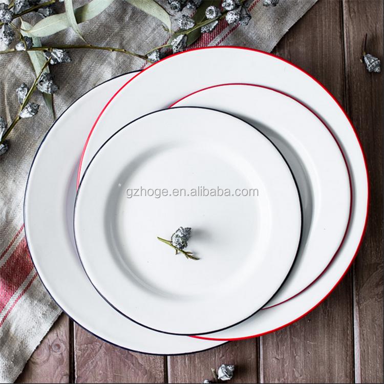 China Vintage Cast Iron Enamel Dish Enamel Dinner Plate Wholesale & China Vintage Cast Iron Enamel Dish Enamel Dinner Plate Wholesale ...