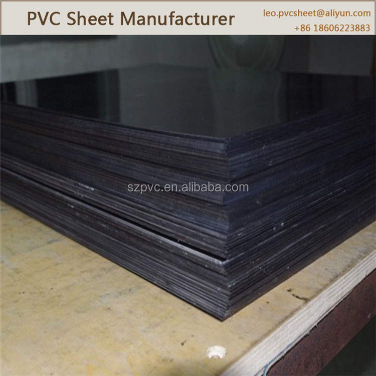 Light Weight grey/white/black pvc plastic sheet/pvc sheets black